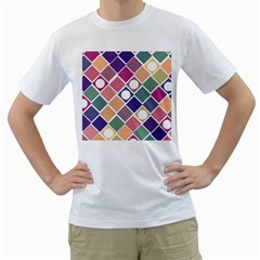 Dots and Squares Men s T-Shirt (White)