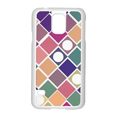 Dots and Squares Samsung Galaxy S5 Case (White)