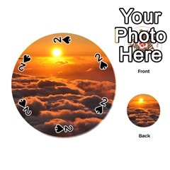 SUNSET OVER CLOUDS Playing Cards 54 (Round)