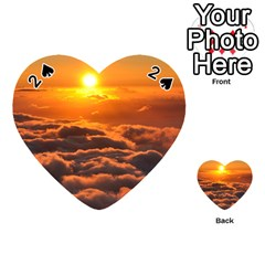 Sunset Over Clouds Playing Cards 54 (heart)