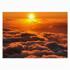 SUNSET OVER CLOUDS Large Glasses Cloth