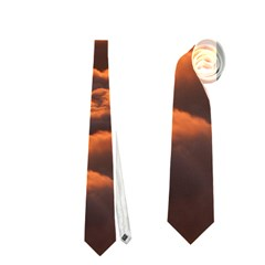 Sunset Over Clouds Neckties (one Side)