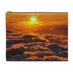 SUNSET OVER CLOUDS Cosmetic Bag (XL)