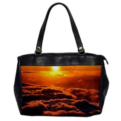 SUNSET OVER CLOUDS Office Handbags