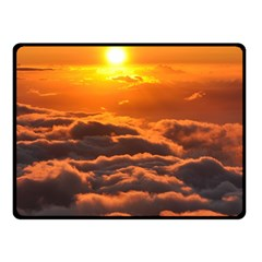 Sunset Over Clouds Fleece Blanket (small)