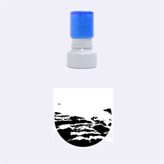 SUNSET OVER CLOUDS Rubber Round Stamps (Small)