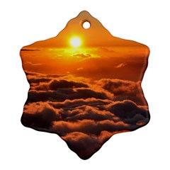 SUNSET OVER CLOUDS Ornament (Snowflake)
