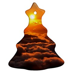 SUNSET OVER CLOUDS Christmas Tree Ornament (2 Sides)