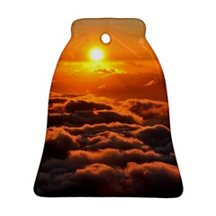 SUNSET OVER CLOUDS Bell Ornament (2 Sides)