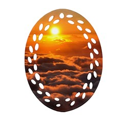Sunset Over Clouds Ornament (oval Filigree)