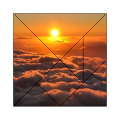 SUNSET OVER CLOUDS Acrylic Tangram Puzzle (6  x 6 )