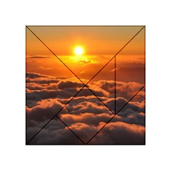 Sunset Over Clouds Acrylic Tangram Puzzle (4  X 4 )