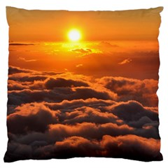 SUNSET OVER CLOUDS Large Cushion Cases (Two Sides)