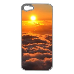 SUNSET OVER CLOUDS Apple iPhone 5 Case (Silver)