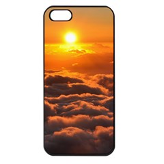 SUNSET OVER CLOUDS Apple iPhone 5 Seamless Case (Black)