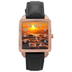 SUNSET OVER CLOUDS Rose Gold Watches