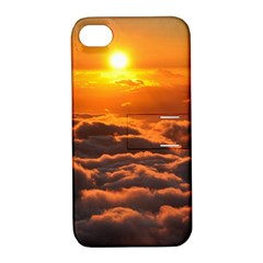 SUNSET OVER CLOUDS Apple iPhone 4/4S Hardshell Case with Stand