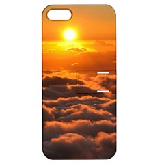 SUNSET OVER CLOUDS Apple iPhone 5 Hardshell Case with Stand