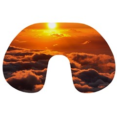 SUNSET OVER CLOUDS Travel Neck Pillows