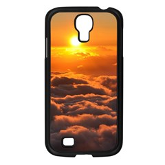 SUNSET OVER CLOUDS Samsung Galaxy S4 I9500/ I9505 Case (Black)