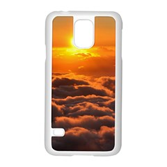 SUNSET OVER CLOUDS Samsung Galaxy S5 Case (White)