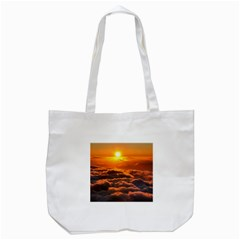 SUNSET OVER CLOUDS Tote Bag (White)