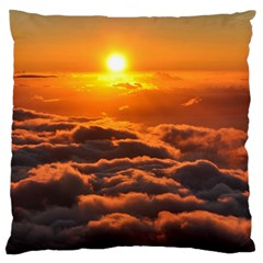Sunset Over Clouds Standard Flano Cushion Cases (two Sides)