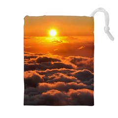 Sunset Over Clouds Drawstring Pouches (extra Large)