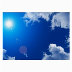 SUN SKY AND CLOUDS Large Glasses Cloth