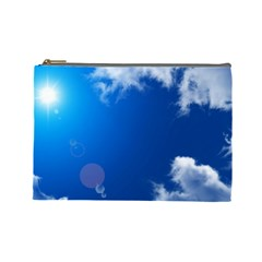 SUN SKY AND CLOUDS Cosmetic Bag (Large)