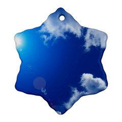 SUN SKY AND CLOUDS Snowflake Ornament (2-Side)
