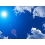 SUN SKY AND CLOUDS Ribbon 3D Greeting Card (7x5)  Front