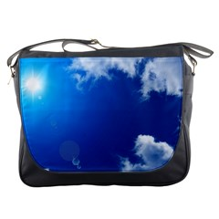 SUN SKY AND CLOUDS Messenger Bags