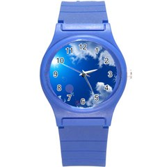 SUN SKY AND CLOUDS Round Plastic Sport Watch (S)