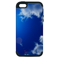 SUN SKY AND CLOUDS Apple iPhone 5 Hardshell Case (PC+Silicone)