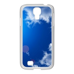 SUN SKY AND CLOUDS Samsung GALAXY S4 I9500/ I9505 Case (White)