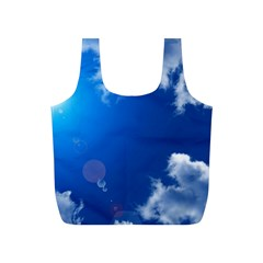 SUN SKY AND CLOUDS Full Print Recycle Bags (S)
