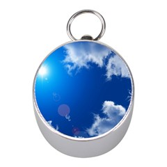 Sun Sky And Clouds Mini Silver Compasses