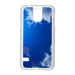 SUN SKY AND CLOUDS Samsung Galaxy S5 Case (White)