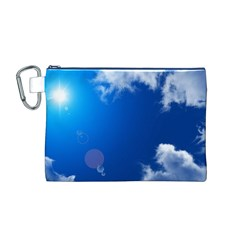 SUN SKY AND CLOUDS Canvas Cosmetic Bag (M)