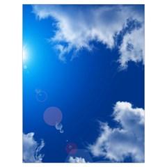 Sun Sky And Clouds Drawstring Bag (large)