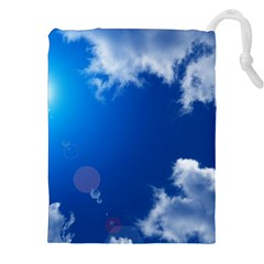 SUN SKY AND CLOUDS Drawstring Pouches (XXL)