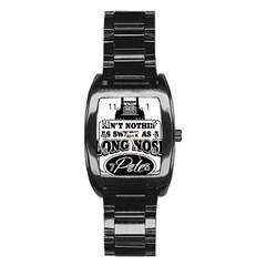 Pete Stainless Steel Barrel Watch