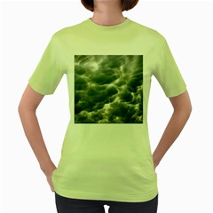 STORM CLOUDS 2 Women s Green T-Shirt