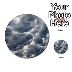 Storm Clouds 2 Multi Purpose Cards (round)