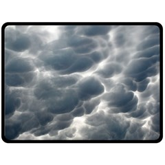 Storm Clouds 2 Double Sided Fleece Blanket (large)