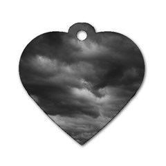 STORM CLOUDS 1 Dog Tag Heart (Two Sides)