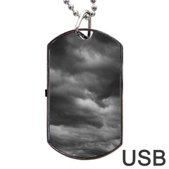 Storm Clouds 1 Dog Tag Usb Flash (one Side)
