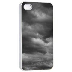 STORM CLOUDS 1 Apple iPhone 4/4s Seamless Case (White)