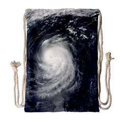 HURRICANE IRENE Drawstring Bag (Large)